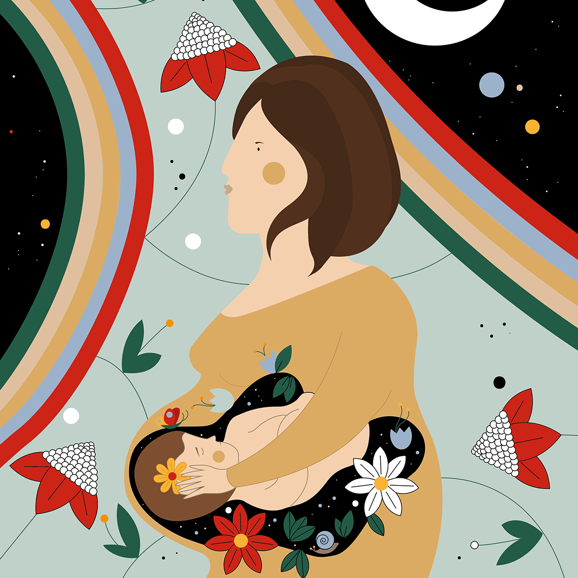 Inside her, the universe